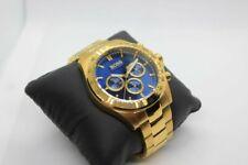 NEW GENUINE HUGO BOSS HB1513340 IKON BLUE & YELLOW GOLD TONE MEN'S WATCH UK GIFT