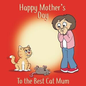 Funny Mothers Day Card From Cat -Cat Card For Mothers Day -Cat Mothers Day Gift