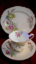 1930'S PARAGON PRINCESS MARGARET TRIO  FOOTED TEACUP , OVAL SAUCER & OVAL PLATE