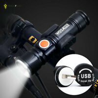 Professional USB Rechargeable Bicycle Head Flashlight Bike Accessory Waterproof