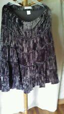 Chocolate Broomstick Boho Tiered Long Crushed Velvet Women's Skirt.