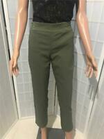 Women's JM Collection Petite Medium Olive Green Pull On Stretch Capri/Pants