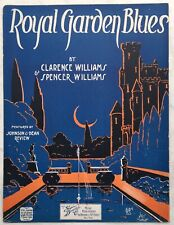 1920 Vivid BLACK SONGWRITERS sheet music CLARENCE WILLIAMS Royal Garden Blues