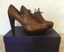 Stuart Weitzman Platform heels Leather Lace Up Bootie Size6,5 Nwb