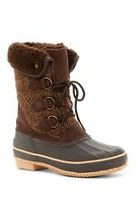 NEW Arctic Plunge Hunter Faux Fur Trimmed Snow Boots Brown Women Size 7.5 $120