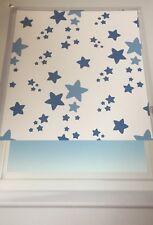 Twinkle/Star Blue Blackout Roller Blind 90cm Wide X 170cm Drop Child Safe