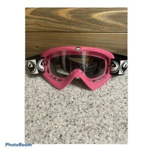 Dragon Ski Snow Goggles Pink Black Clear Lense Adjustable Strap  snow sport