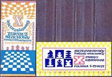POLAND 1972 Matchbox Label - Cat.A#016/17 X Intl. Chess Tournament  A Rubinstein