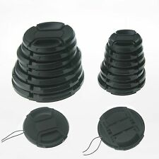 10pcs 52mm Center Pinch Snap-on Front Cap + String for Olympus Nikon Canon:52mm