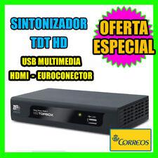 Sintonizador TDT HDMI EUROCONECTOR TDT Easy Home DVB-T HD TOPBOX USB MULTIMEDIA