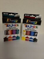 Lot of 2 Tee Juice Broad Tip Classic Color 4Pc Set (8 colors in total) NOS NEW