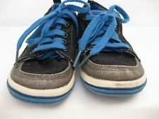 Baby GAP Black Blue Lace Canvas Textile Runners Sneaks Walking Shoes Boys 9