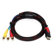 1.5m HDMI maschio a 3 RCA audio video Cavo AV CORDINO adattatore per TV HDTV DVD