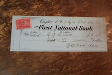 BANK CHECK FIRST NATIONAL BANK OF CLAYTON NEW YORK 1900