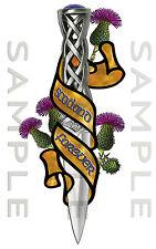 Scotland Forever CARDO celtica DIRK Adesivo Auto Camion Furgone Barca Bici TOOL BOX
