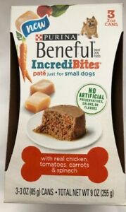 Purina Beneful IncrediBites Real Chicken,Tomatos,Carrots & Spinach Pate` 3-3oz