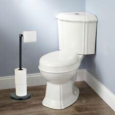 Taylor & Brown 2 in 1 Freestanding Black Toilet Roll Holder