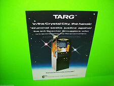 Exidy TARG Original NOS 1980 Retro Classic Video Arcade Game Sales Flyer Adv.