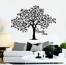 Vinyl Wall Decal Family Tree Branch Nature Living Room Idea Stickers (g3118)