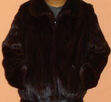 "Men""s BLACKGLAMA Natural Mink Fur Jacket Size 36 Free Shipping EXCELLENT CONDITI"