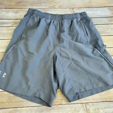 Under Armour Heatgear Fitted Gray Running Shorts Mens Large