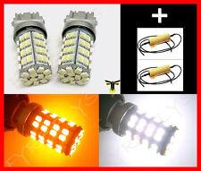 120 LED Dual Color Switchback 3157 3457 Turn Signal Lights & Resistors #F7