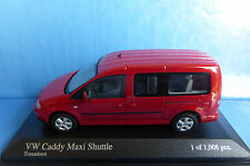 VW VOLKSWAGEN CADDY MAXI SHUTTLE TORNADO RED 2007 MINICHAMPS 400057000 1/43 ROT