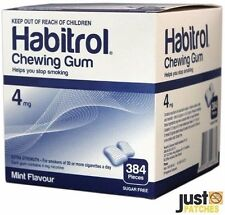 Habitrol Nicotine Gum 4mg Mint Flavor 384 Pieces 1 Large Bulk Box Quit Smoking