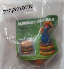 MIP McDonald's 1987 Changeables BIG MAC HAMBURGER Robot Transformer Toy BURGER