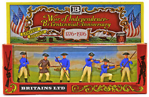 1:32 Britains' #5154 - 6 Bicentennial Swoppet 1776 American Infantry mint in box