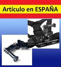 ADAPTADOR pecho y cabeza J camara GoPro SJ4000 SJCAM arnes accesorios soporte