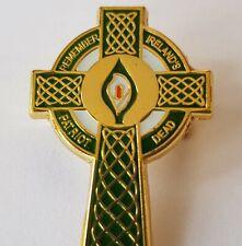 Easter Lily Celtic Cross Remember Ireland's Patriot Dead Badge Irish Republican