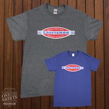 Craftsman Tools Logo T Shirt (rare vintage logo) Free Shipping