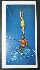 High Wire Bicycle Circus Act  Original  Illustrated Card  #  EXC