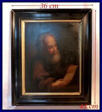 Portrait d'Un Apôtre Huile sur Bois Fin du XVIIIe siècle École Hollandaise Cadre