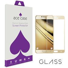 Samsung Galaxy C7 Pro protector de pantalla Full 3D oro cristal de borde a borde de cobertura