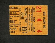 1972 Jetrho Tull Eagles Concert Ticket Stub Houston TX Thick As A Brick