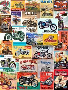 Retro Motorcycle Wall Sign & Advertisement Metal Plaque V1 Norton Triumph BSA