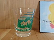 Souvenir Shot Glass TINKERTOWN MUSEUM New Mexico Trees Mountains Clear