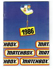 KATALOG / CATALOGUE MATCHBOX FAHRZEUGE 1986, Deutsch, GS, sehr gut/lvery good !