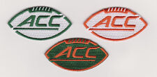 MIAMI HURRICANES JERSEY ACC PATCH LOT OF 3 NCAA COLLEGE FOOTBALL  BASKETBALL