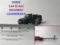 1:64 S Scale Custom Highway Guardrails Set of 3 5 Inch Long Pieces Highway Scene