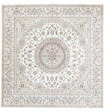 """Hand-knotted Persian Nain rug. 8'10""""x 8'10"""""""