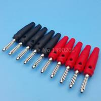 5Pair/10Pcs Red and Black 4mm Solderless Side Stackable Banana Plug Connector