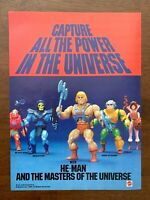 1982 Mattel He-man and the Masters of the Universe Vintage Toy Print Ad/Poster
