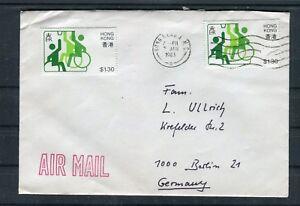 Luftpostbrief Hong Kong 1,30$ MeF nach Berlin - b6430