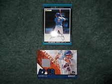 DAVID WRIGHT LOT- 2002 BOWMAN RC #381, 2015 TOPPS CAREER HIGH JERSEY RELIC, Mets