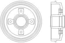 MBD028 Mintex tamburo del freno posteriore singolo