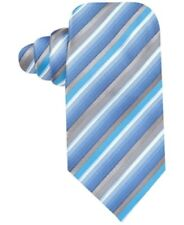 John Ashford Dove Stripe Neck Tie, Washable, Blue Multi, One Size