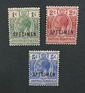 MOMEN: HONDURAS SG #111s-113s 1915-16 SPECIMEN MINT OG H LOT #191541-300